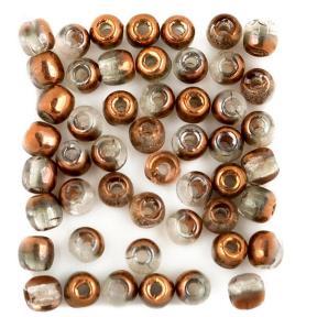 Glass Pressed Beads 2 мм Crystal Capri Gold