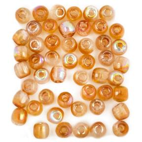 Glass Pressed Beads 2 мм Crystal Orange Rainbow