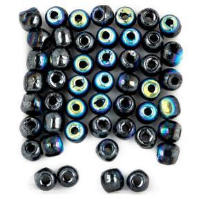 Glass Pressed Beads 2 мм Jet Hematite AB