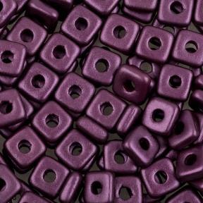 Quad Bead 4 мм Alabaster Pastel Bordeaux
