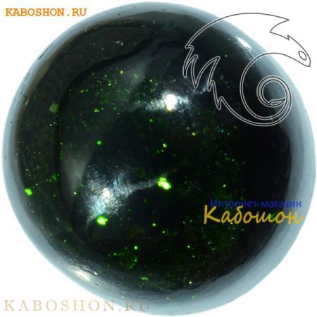 Авантюрин зелёный (искуственный) кабошон