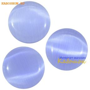 Кошачий глаз (стекло) круглый 12 мм синий