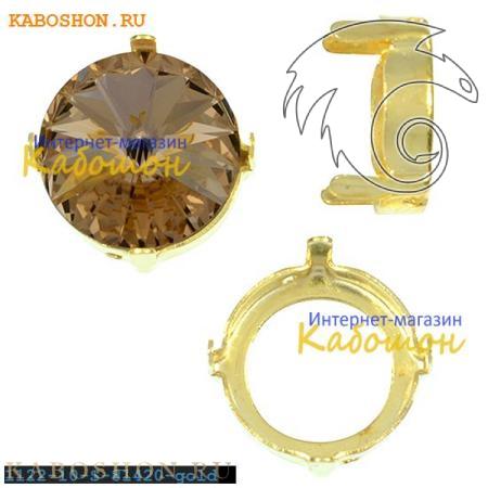 Оправа для риволи Swarovski ss 47 (10,5 мм) позолоченная 1122-10-S-81420-gold
