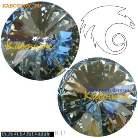Кристалл Swarovski Rivoli (Риволи сваровски) 12 мм Crystal Blue Shade