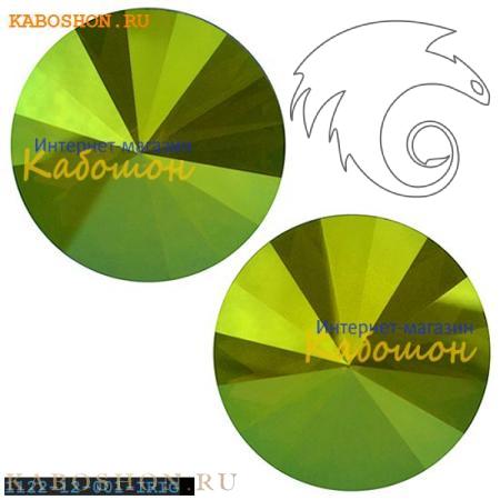 Swarovski Rivoli ss 47 (10,5 мм) Crystal Iridescent Green 1122-10-001-IRIG