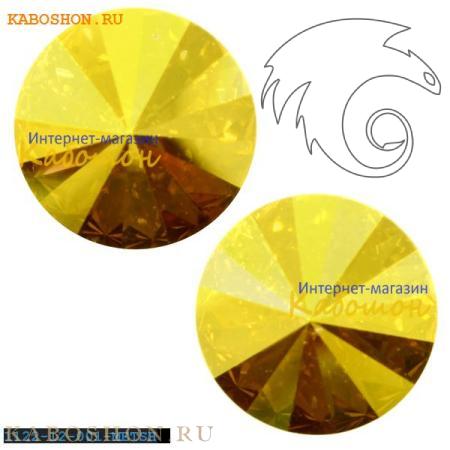 Swarovski Rivoli ss 47 (10,5 мм) Crystal Metallic Sunshine 1122-10-001-METSH
