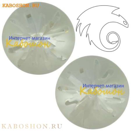 Кристалл Swarovski (Сваровски) Sea Urchin round stone 10 мм Crystal PF