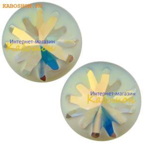 Swarovski Sea Urchin round stone 10 мм Crystal AB PF