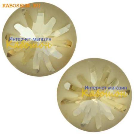 Swarovski Sea Urchin round stone 10 мм Crystal Golden Shadow PF
