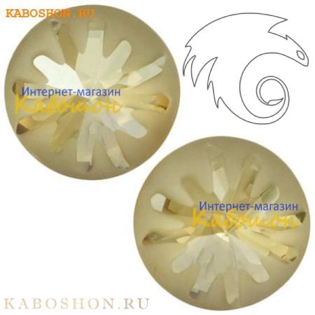 Swarovski Sea Urchin round stone 10 мм Crystal Golden Shadow PF 1695-10-001-GSHA