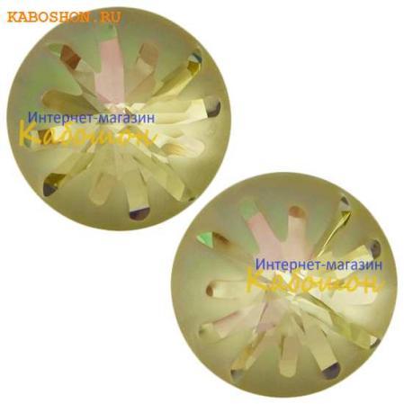 Swarovski Sea Urchin round stone 10 мм Crystal Luminous Green PF
