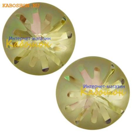 Кристалл Swarovski (Сваровски) Sea Urchin round stone 10 мм Crystal Luminous Green PF