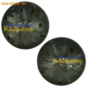 Swarovski Sea Urchin round stone 10 мм Crystal Silver Night PF