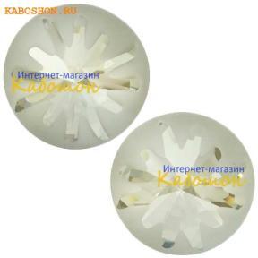 Swarovski Sea Urchin round stone 10 мм Crystal Silver Shade PF