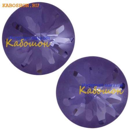 Swarovski Sea Urchin round stone 10 мм Tanzanite PF