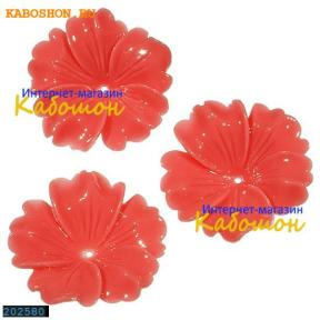 Цветок (имитация коралла) 32 мм розовый (уценка)