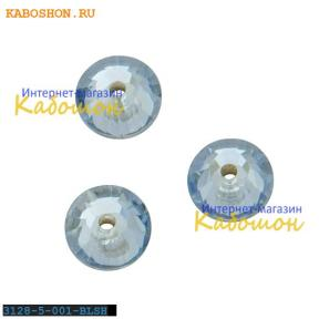 Swarovski Xilion Lochrose 5 мм Crystal Blue Shade
