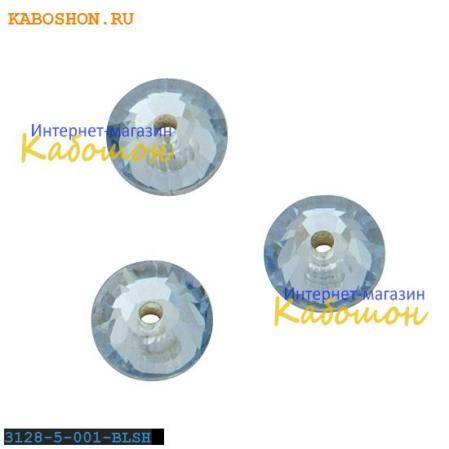 Swarovski Xilion Lochrose 5 мм Crystal Blue Shade