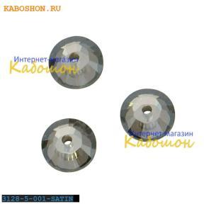 Swarovski Xilion Lochrose 5 мм Crystal Satin