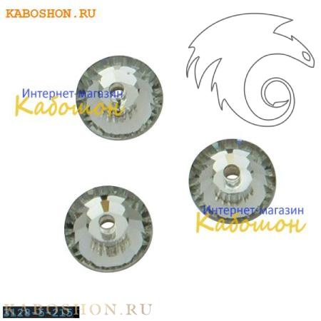 Кристалл Swarovski (Сваровски) Xilion Lochrose 5 мм Black Diamond