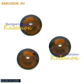 Swarovski Xilion Lochrose 5 мм Mocca