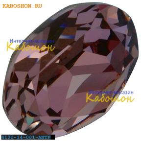 Swarovski Oval Fancy stone 14x10 мм Crystal Antique Pink