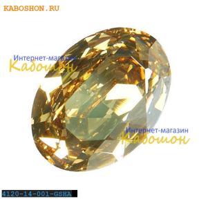 Swarovski Oval Fancy stone 14x10 мм Crystal Golden Shadow