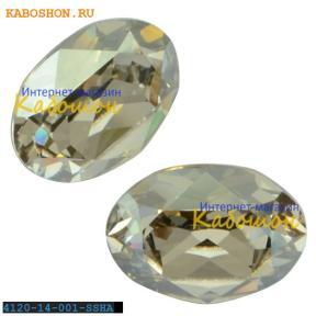 Swarovski Oval Fancy stone 14x10 мм Crystal Silver Shade