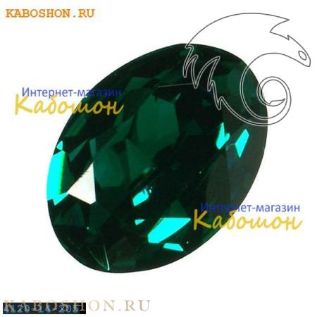 Кристалл Swarovski (Сваровски) Oval Fancy stone 14x10 мм Emerald