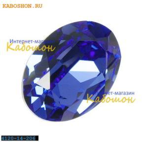 Swarovski Oval Fancy stone 14x10 мм Sapphire