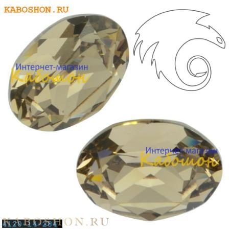 Кристалл Swarovski (Сваровски) Oval Fancy stone 14x10 мм Greige