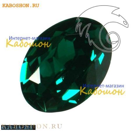 Кристалл Swarovski (Сваровски) Oval Fancy stone 18x13 мм Emerald