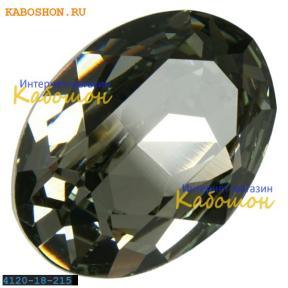 Swarovski Oval Fancy stone 18x13 мм Black Diamond