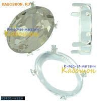 Оправа для Swarovski 4120 Oval Fancy stone 18х13 мм посеребрен.