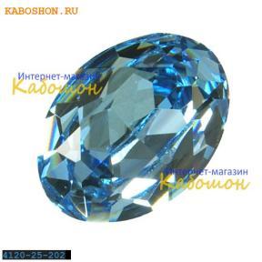 Swarovski Fancy stone 25x18 мм Aquamarine