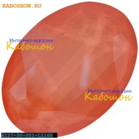 Swarovski Oval Fancy stone 30х22 мм Crystal Lt. Coral