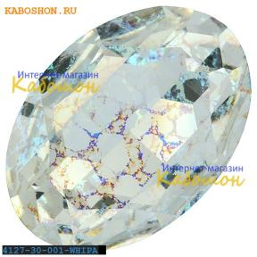 Swarovski Oval Fancy stone 30х22 мм Crystal White Patina