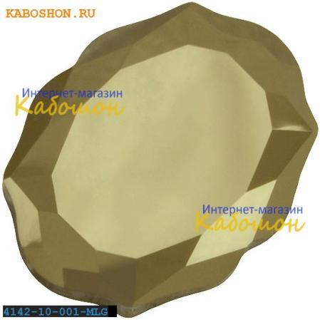 Swarovski 4142 Baroque Mirror 10х8 мм Crystal Metallic Lt. Gold