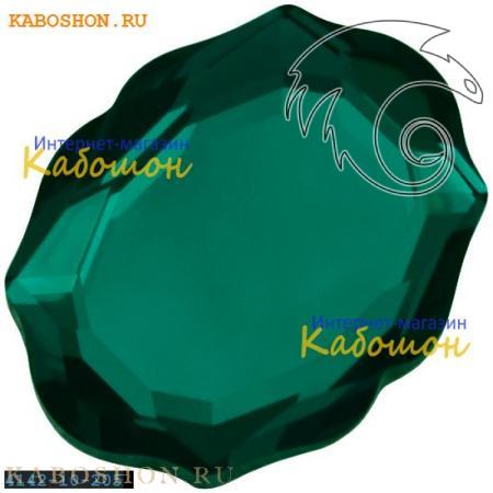 Кристалл Swarovski (Сваровски) 4142 Baroque Mirror 10х8 мм Emerald