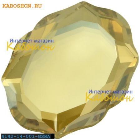 Swarovski 4142 Baroque Mirror 14х11 мм Crystal Golden Shadow