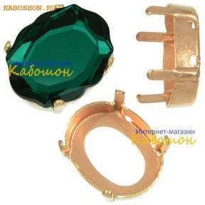 Оправа для Swarovski 4142 Baroque Mirror 14х11 мм латунь