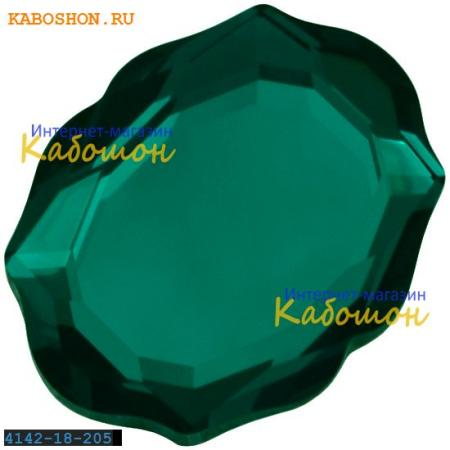Кристалл Swarovski (Сваровски) 4142 Baroque Mirror 18х14 мм Emerald
