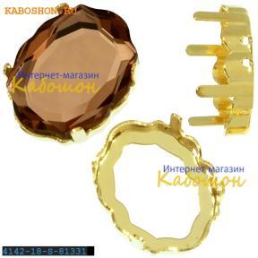 Оправа для Swarovski 4142 Baroque Mirror 18х14 мм золото