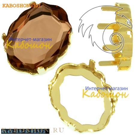 Оправа для Swarovski 4142 Baroque Mirror 18х14 мм золото 4142-18-S-81331