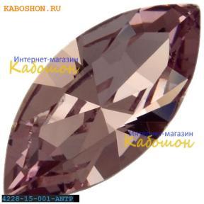 Swarovski Navette Fancy stone 15х7 мм Crystal Antique Pink