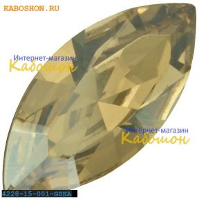 Swarovski Navette Fancy stone 15х7 мм Crystal Golden Shadow