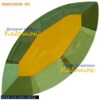 Swarovski Navette Fancy stone 15х7 мм Crystal Iridescent Green