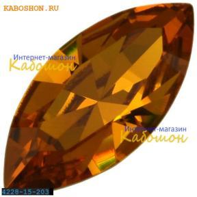 Swarovski Navette Fancy stone 15х7 мм Topaz