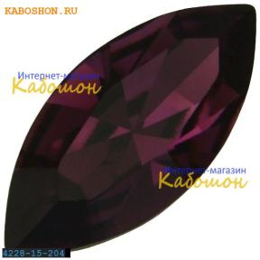 Swarovski Navette Fancy stone 15х7 мм Amethyst