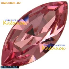 Swarovski Navette Fancy stone 15х7 мм Rose